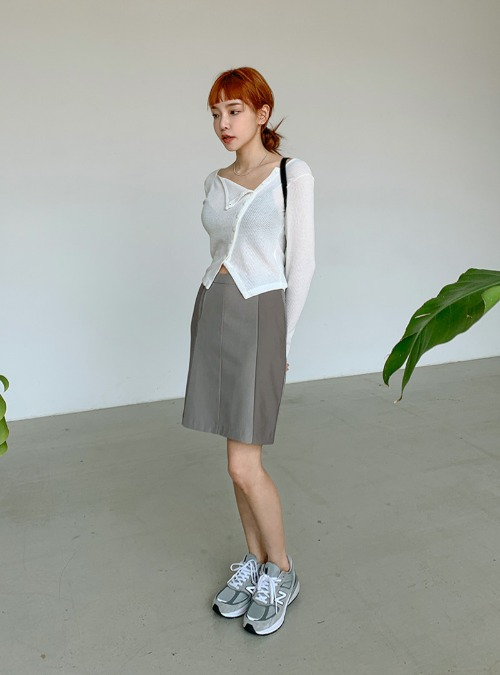 Two-Tone H-Line Skirt