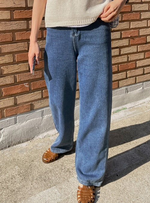High Rise Loose Fit Long Jeans