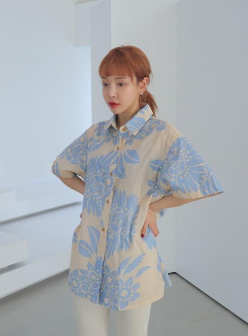 Floral Print Button-Front Shirt