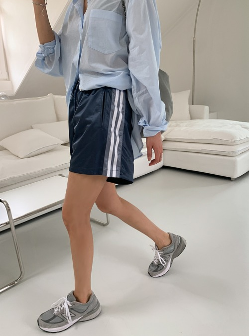 Striped Side Silky Shorts