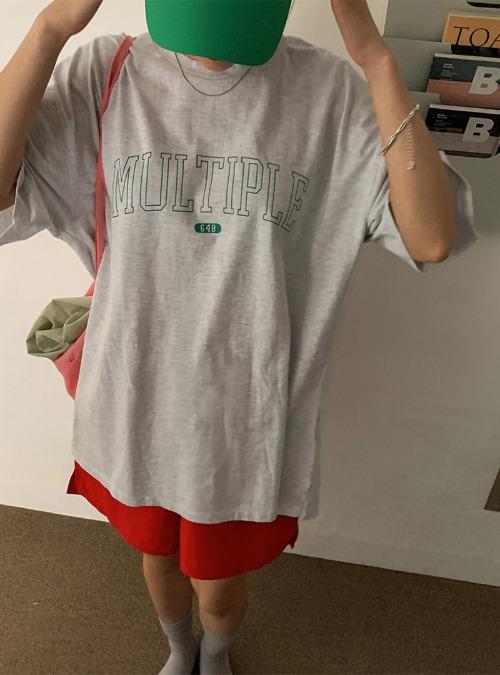 MULTIPLE Print Crew Neck T-Shirt