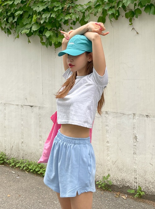 Cropped Short-Sleeved T-Shirt