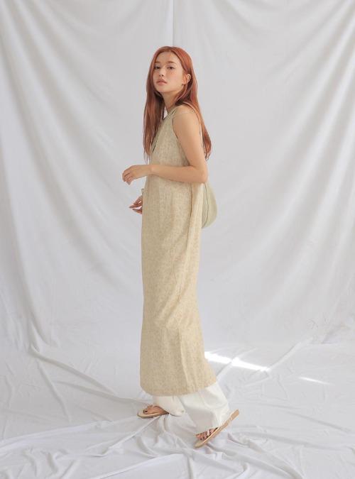 Floral Long Sleeveless Dress
