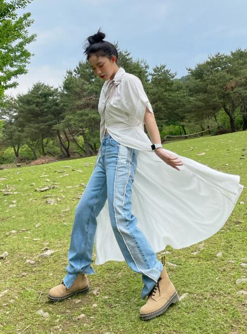 Long Button-Up Shirt Dress