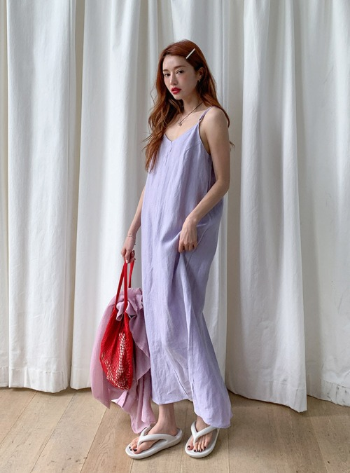 Back Slit Maxi Sleeveless DressThe delivery starts from Jul.7th along with your purchase order!!