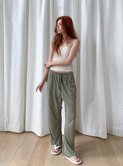 Tie-Waist Solid Tone Wide-Leg Pants