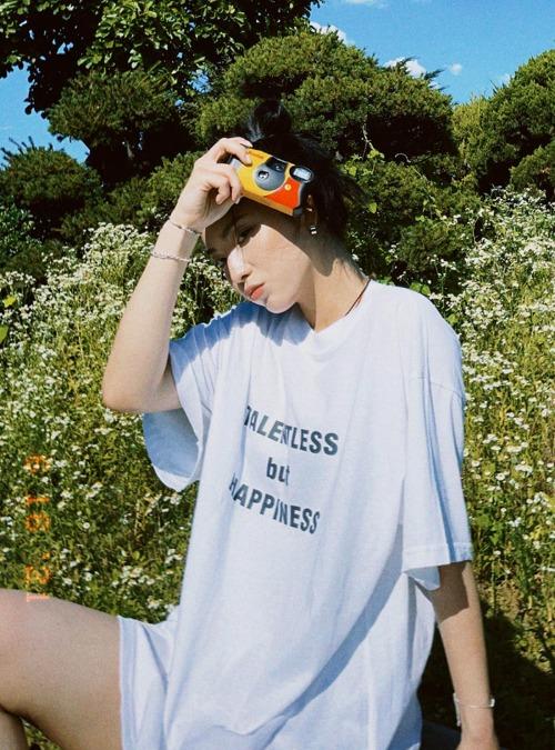 TALENTLESS Print Oversized T-Shirt