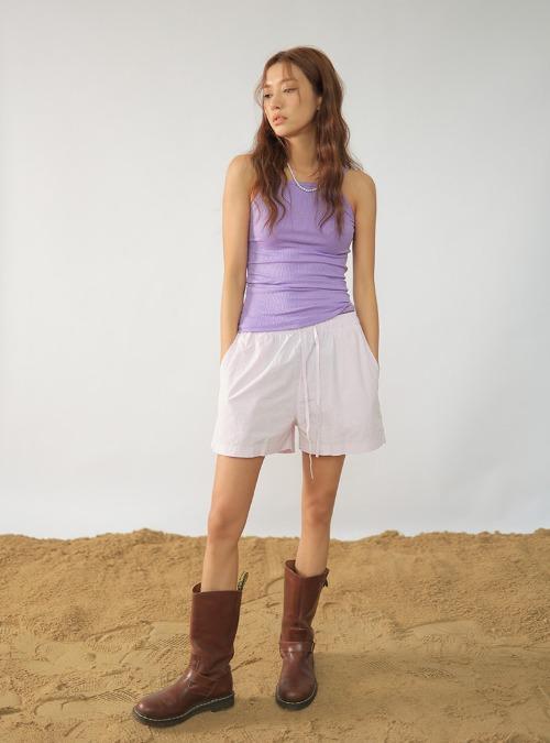 Cotton Tie-Waist Shorts