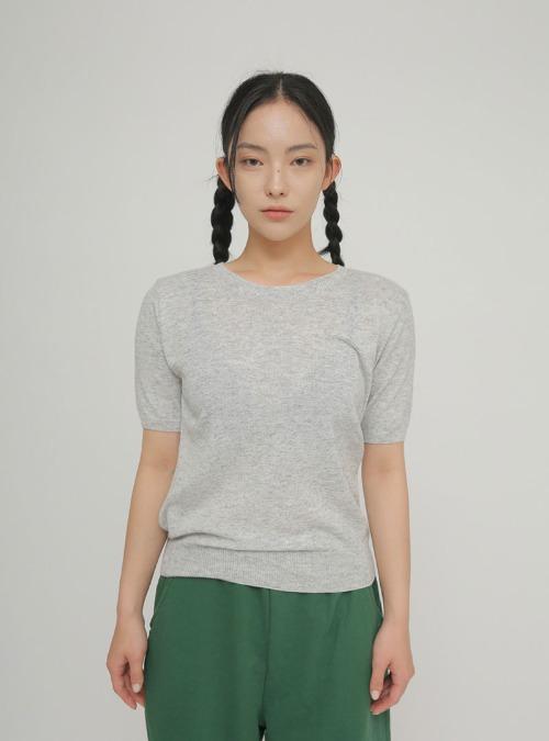 日常滿分五分袖針織衫