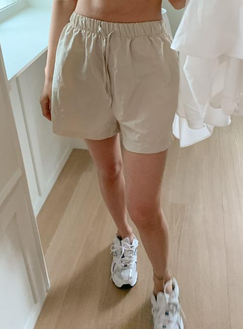 Tie-Waist Mid-Length Shorts