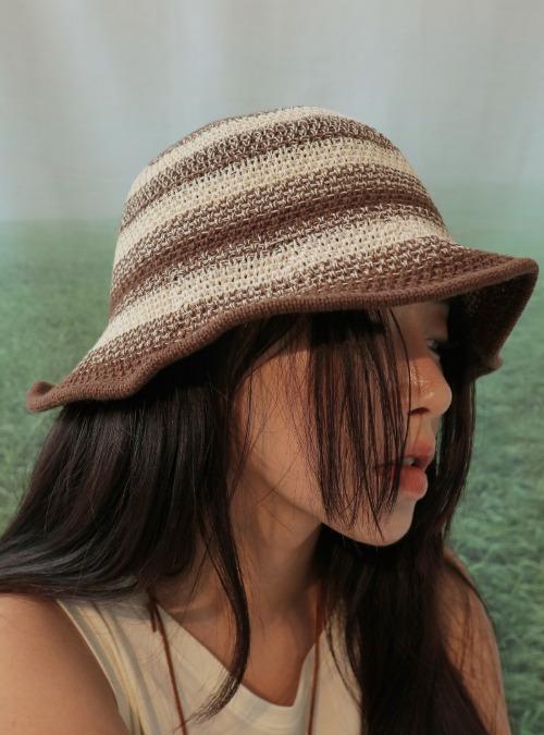 Color Contrast Knit Bucket Hat