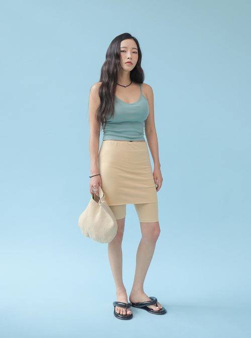 Skirt-Layered Shorts
