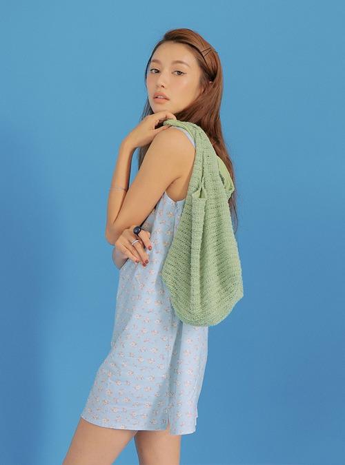 Adjustable Strap Floral Mini Dress