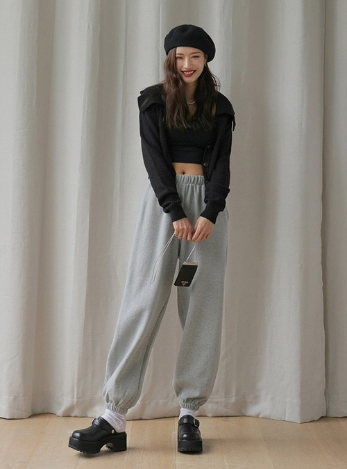 Pull-On Loose Fit Jogger Pants