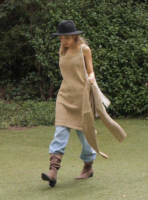 Sleeveless Melange Knit Dress
