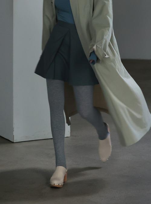 Split Front A-Line Mini Skirt
