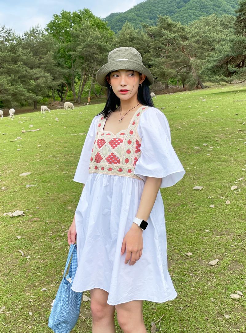 Crochet Panel Loose Fit Dress