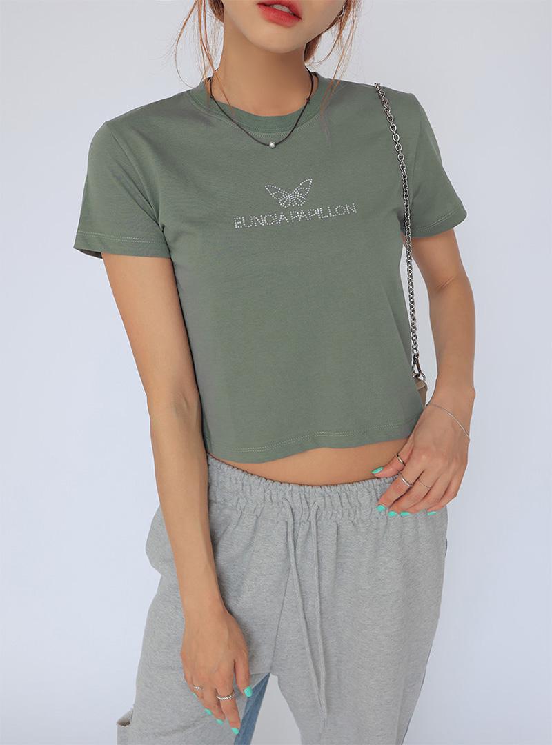 Butterfly Detail Crew Neck T-Shirt