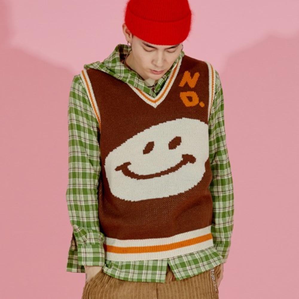 ND. Knit Vest (Brown)