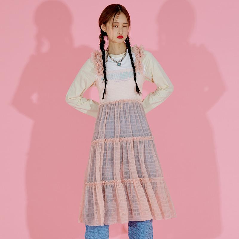 Sheer Dress (Pink)