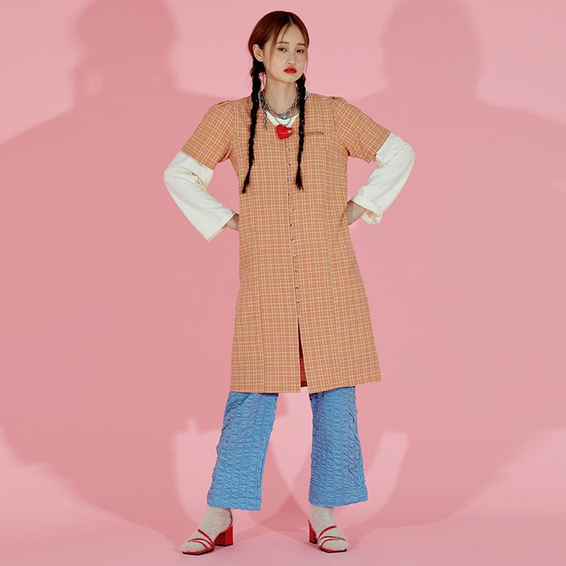 Half Sleeved Dress (Caramel)