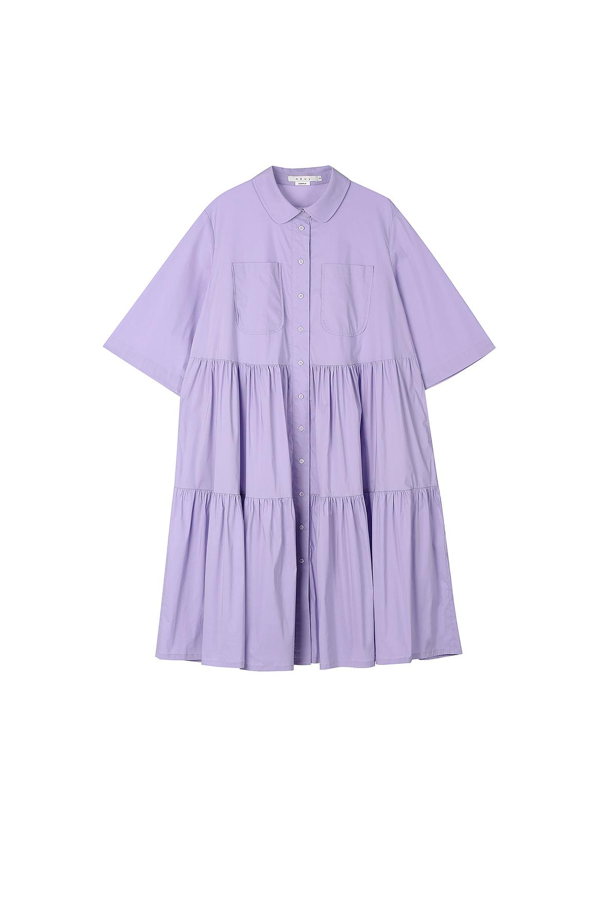 Lavender Tiered Shirtdress
