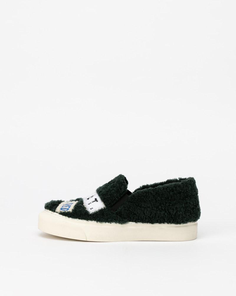 Puggy Sneakers in Green Fur