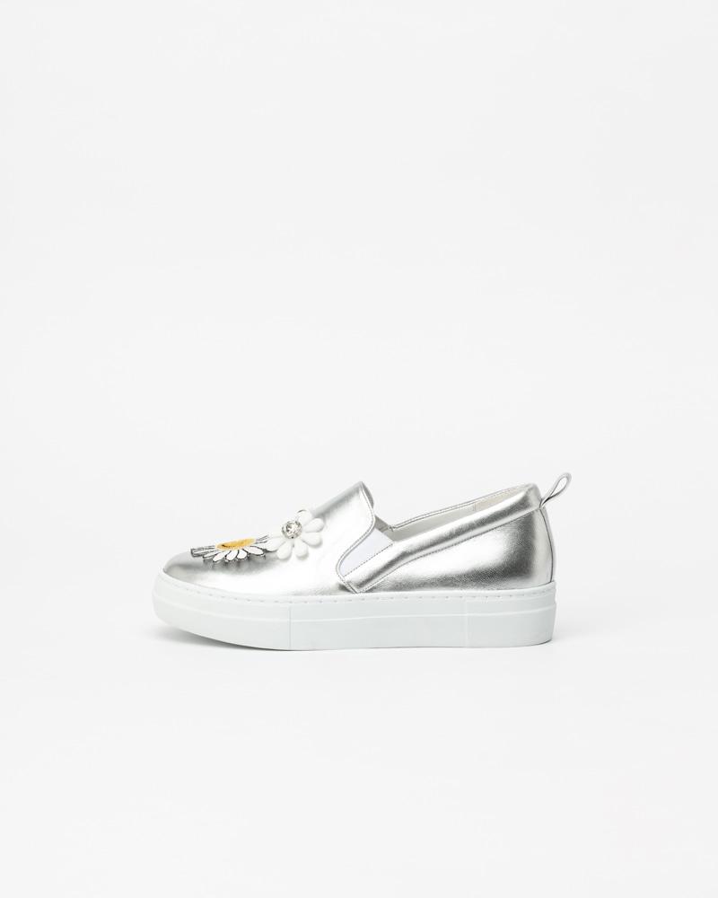 Tamaro Slip-on Sneakers in Pure Silver