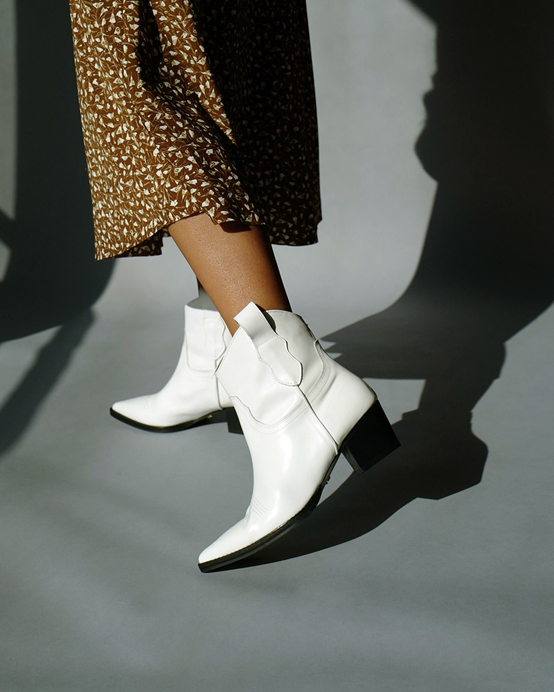 Belgium Cowboy Boots in White