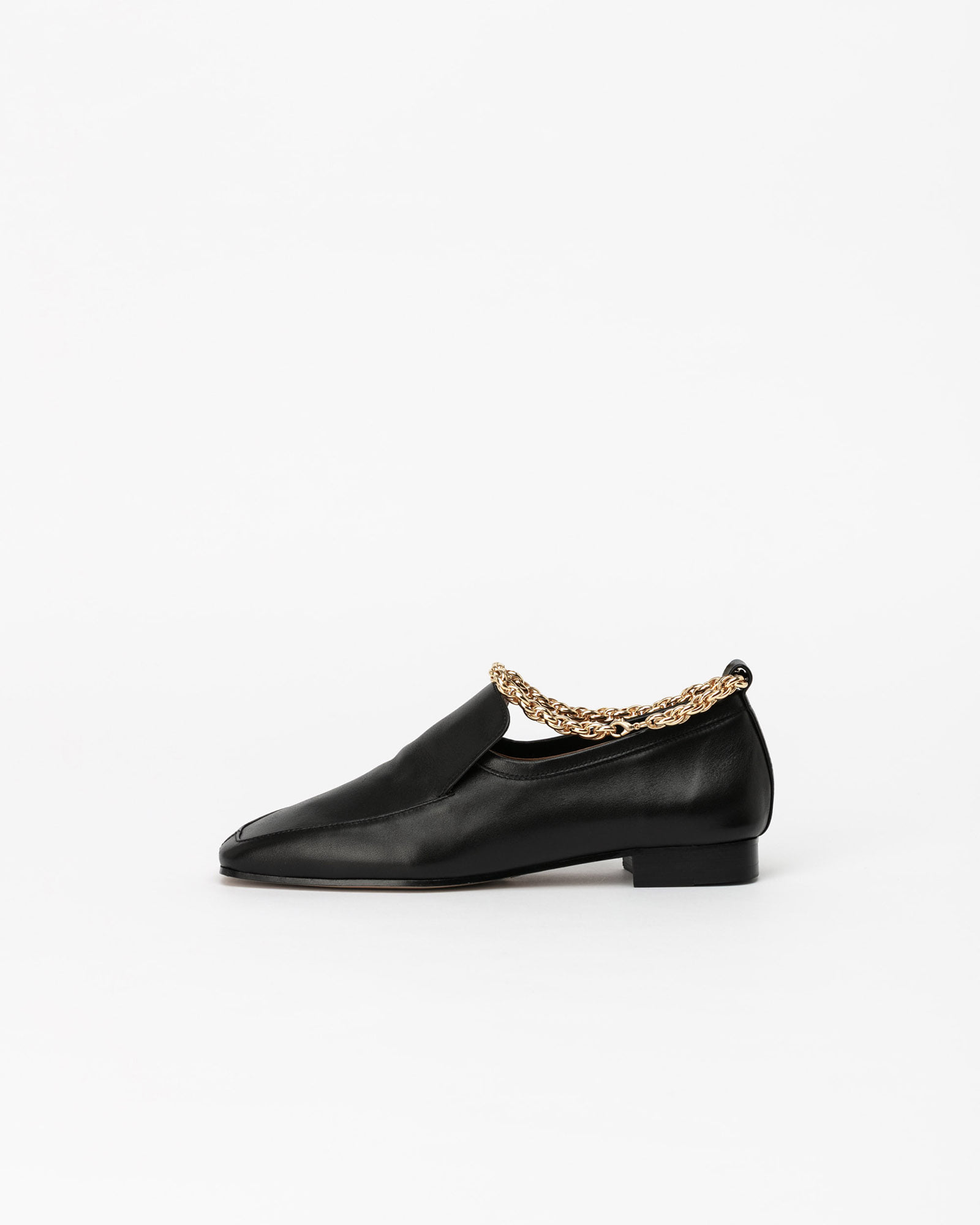 Claus Anklet Slip on Loafers in Black