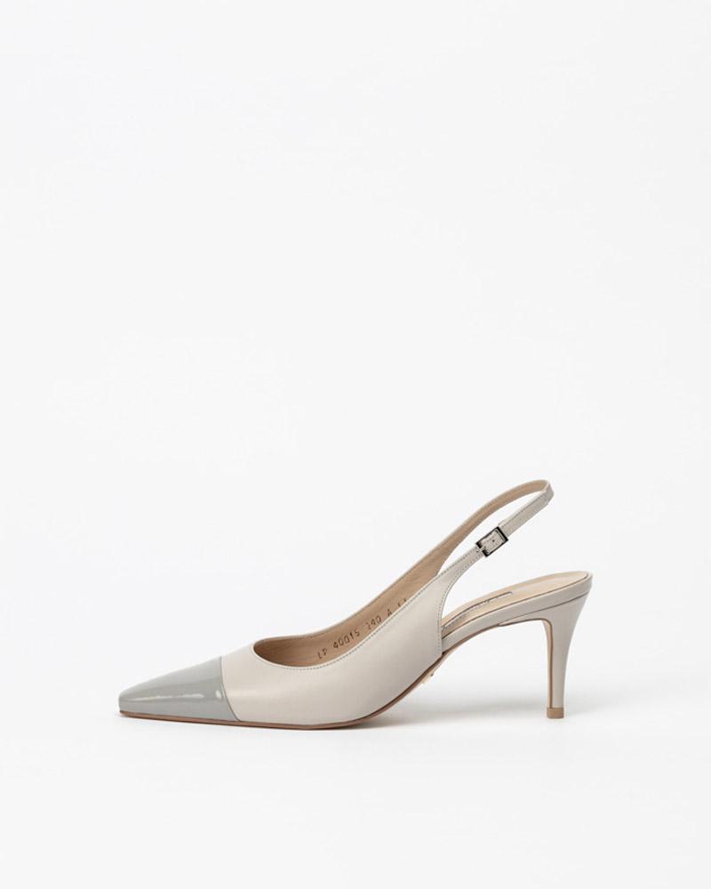 Kernell Slingbacks in Light Gray with Gray Toe