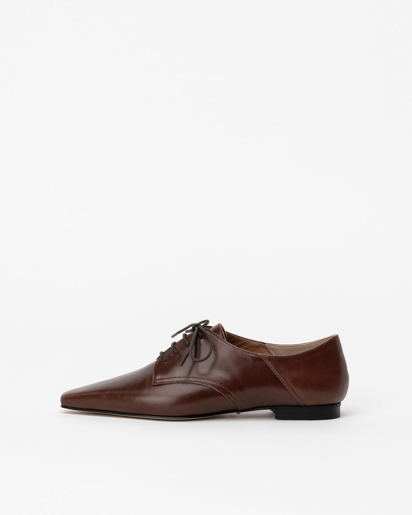 Galiano Derby Babouche in Textured Brown