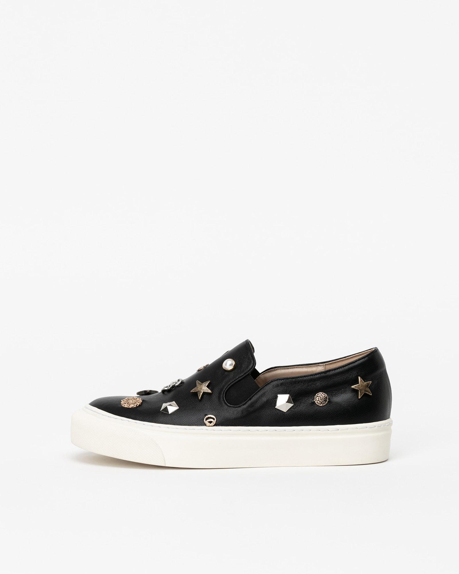 Embel Slip-on Sneakers in Black