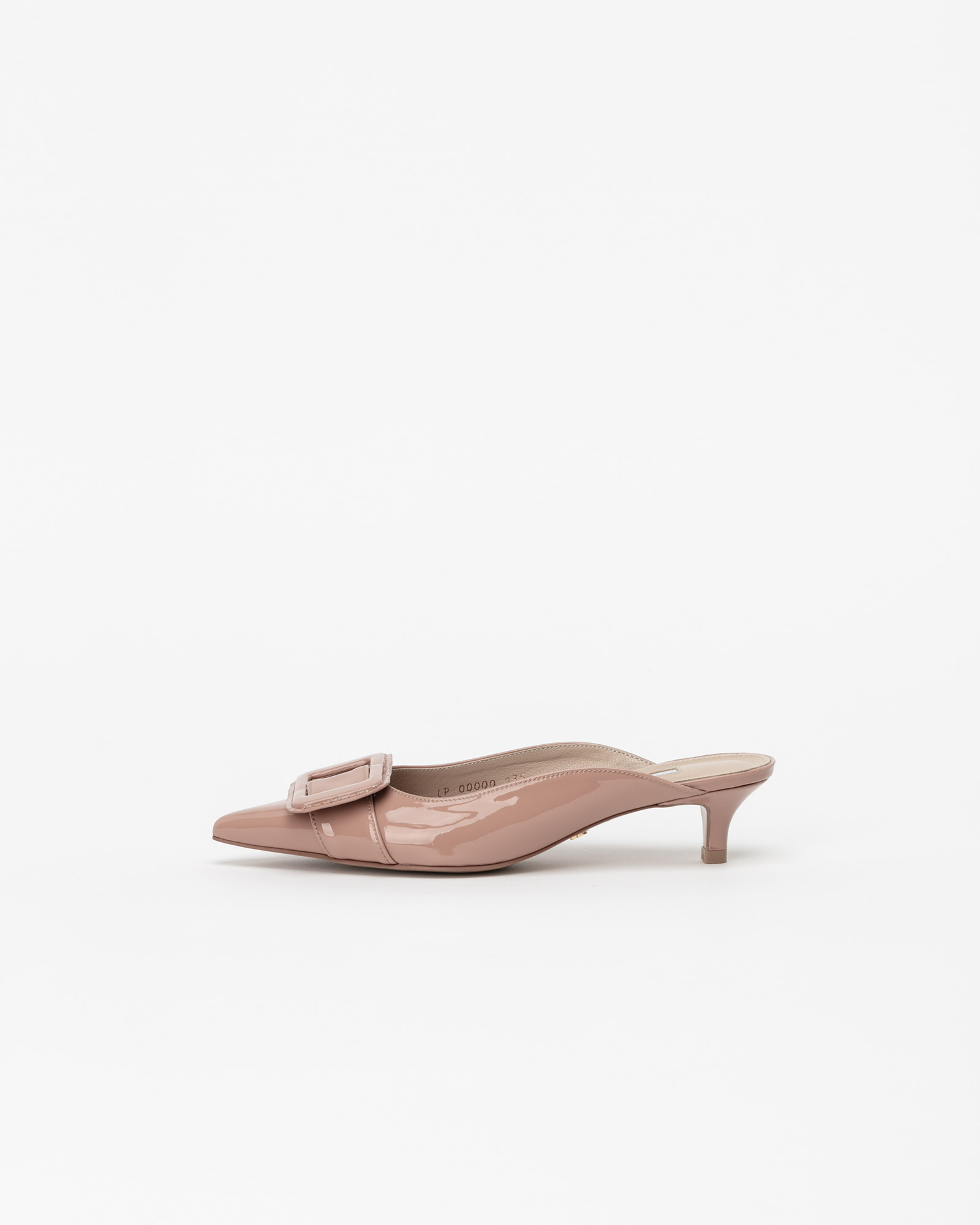 Shanon Mules in Neo Indy Pink Patent