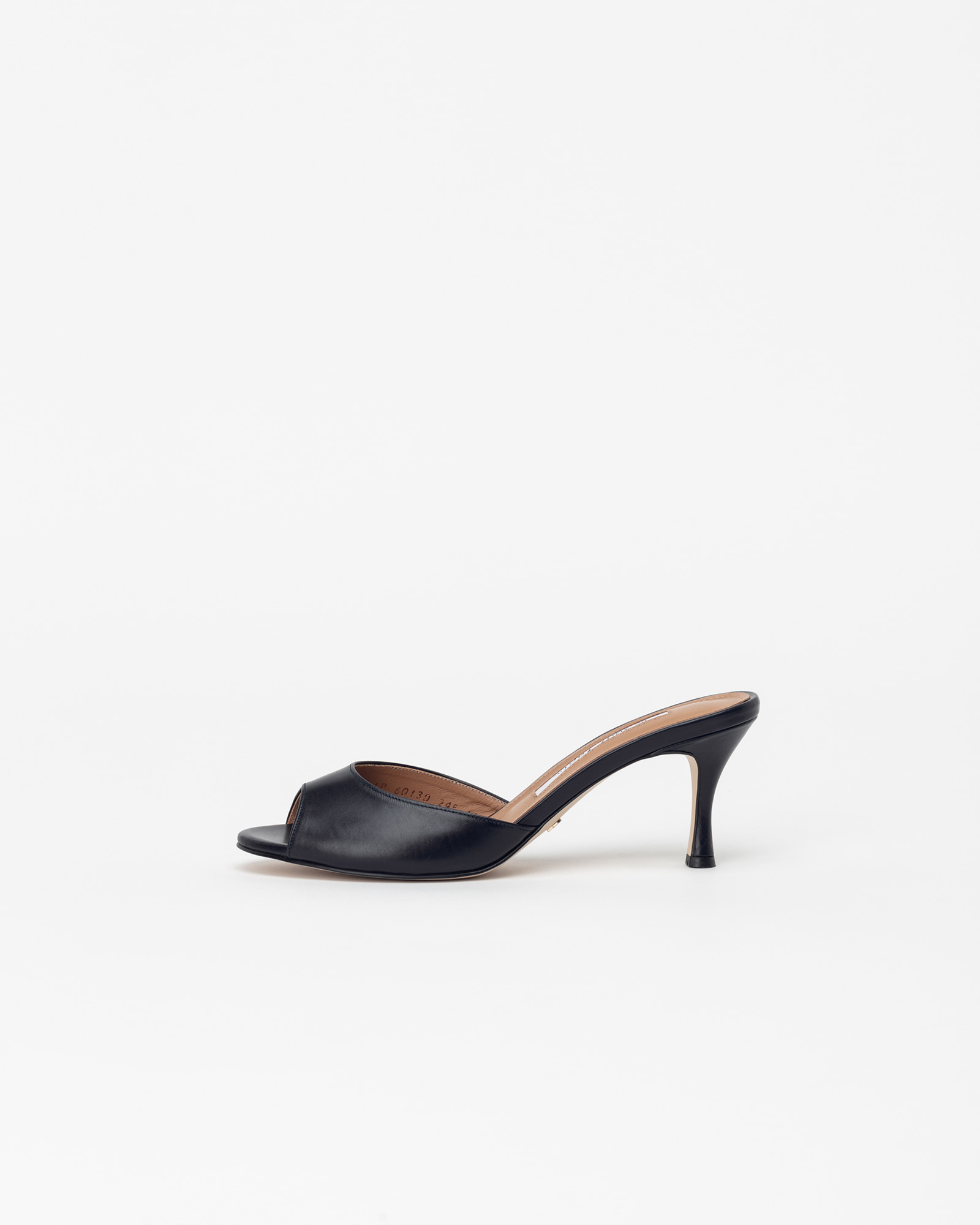 Chartres Mules in Black Baby Calf
