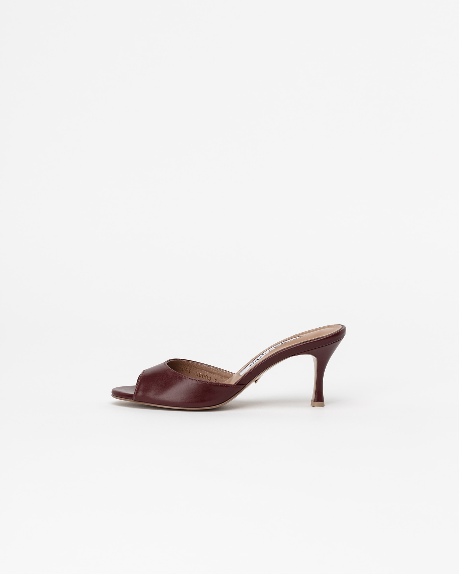 Chartres Mules in Burgundy Baby Calf