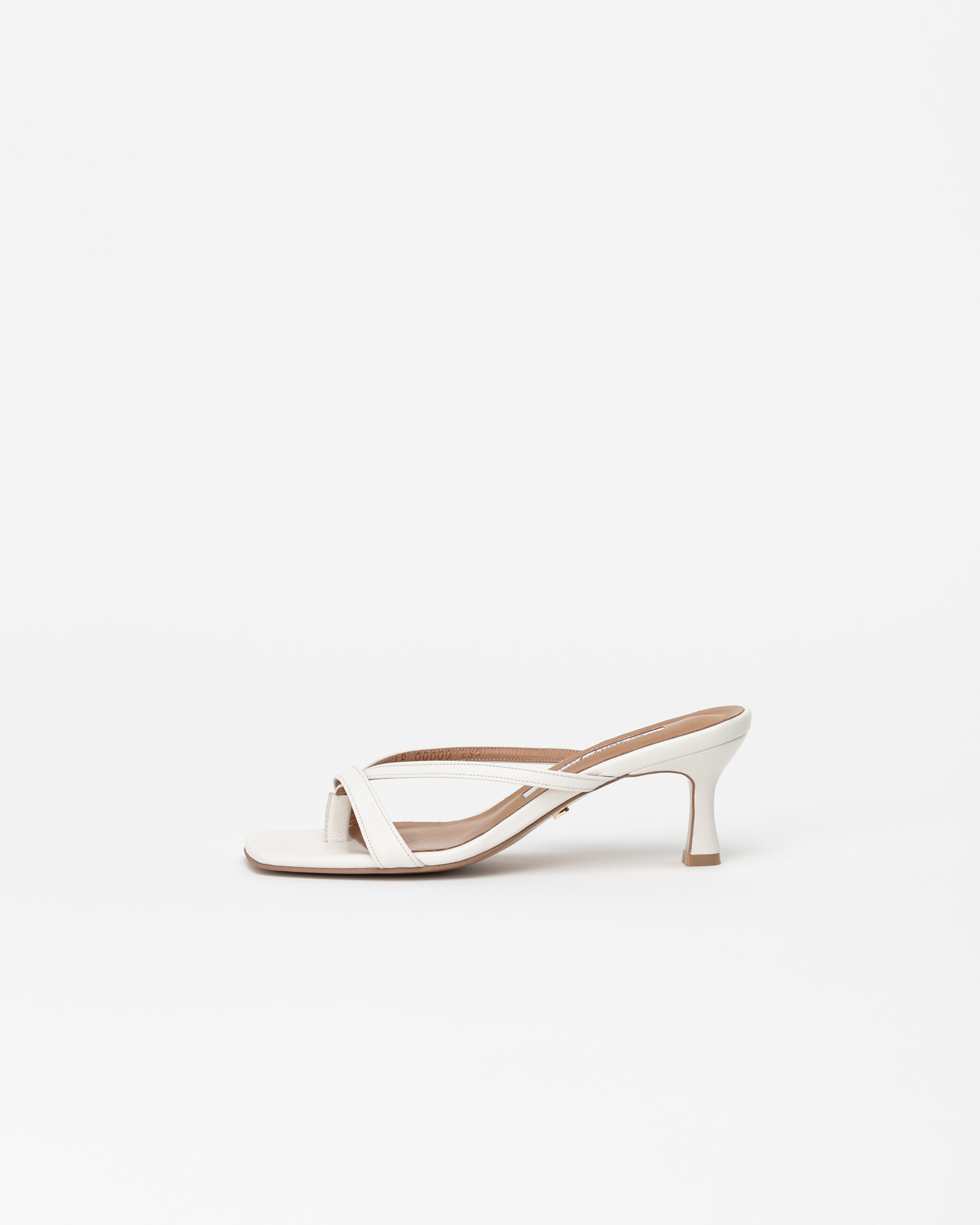 Imae Thong Mules in Pure White