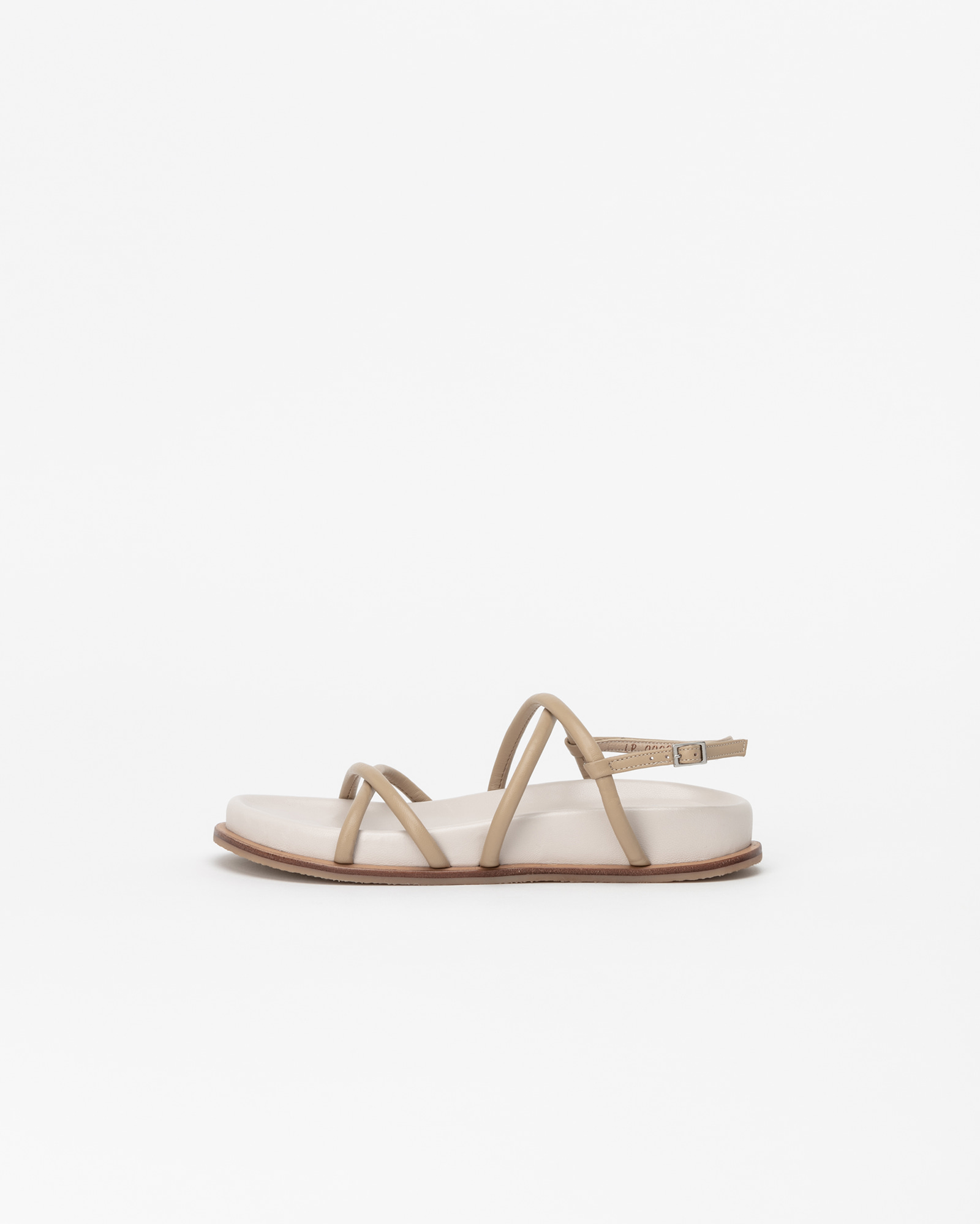 Reiss Footbed Sandals in Yellow Beige