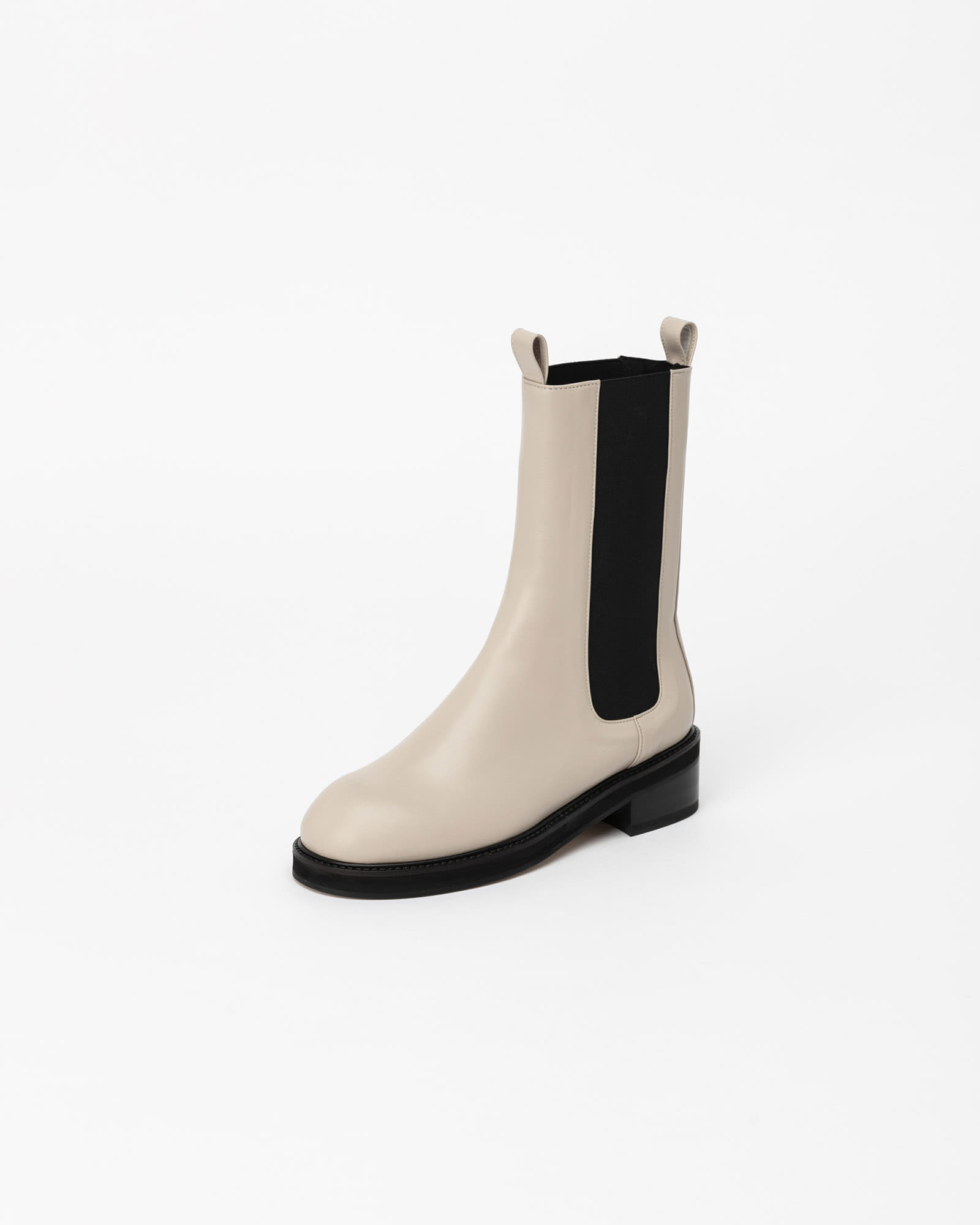 Signific High-rise Chelsea Boots in Ecru Ivory