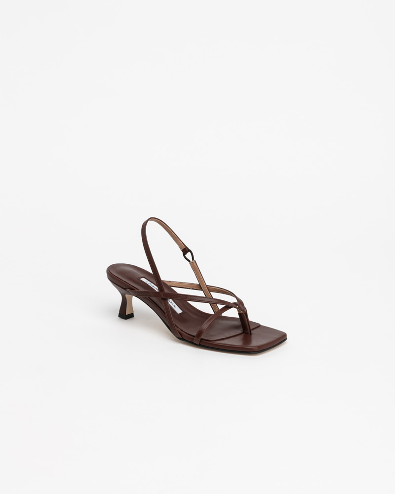 Bueno Thong Sandals in Iron Brown