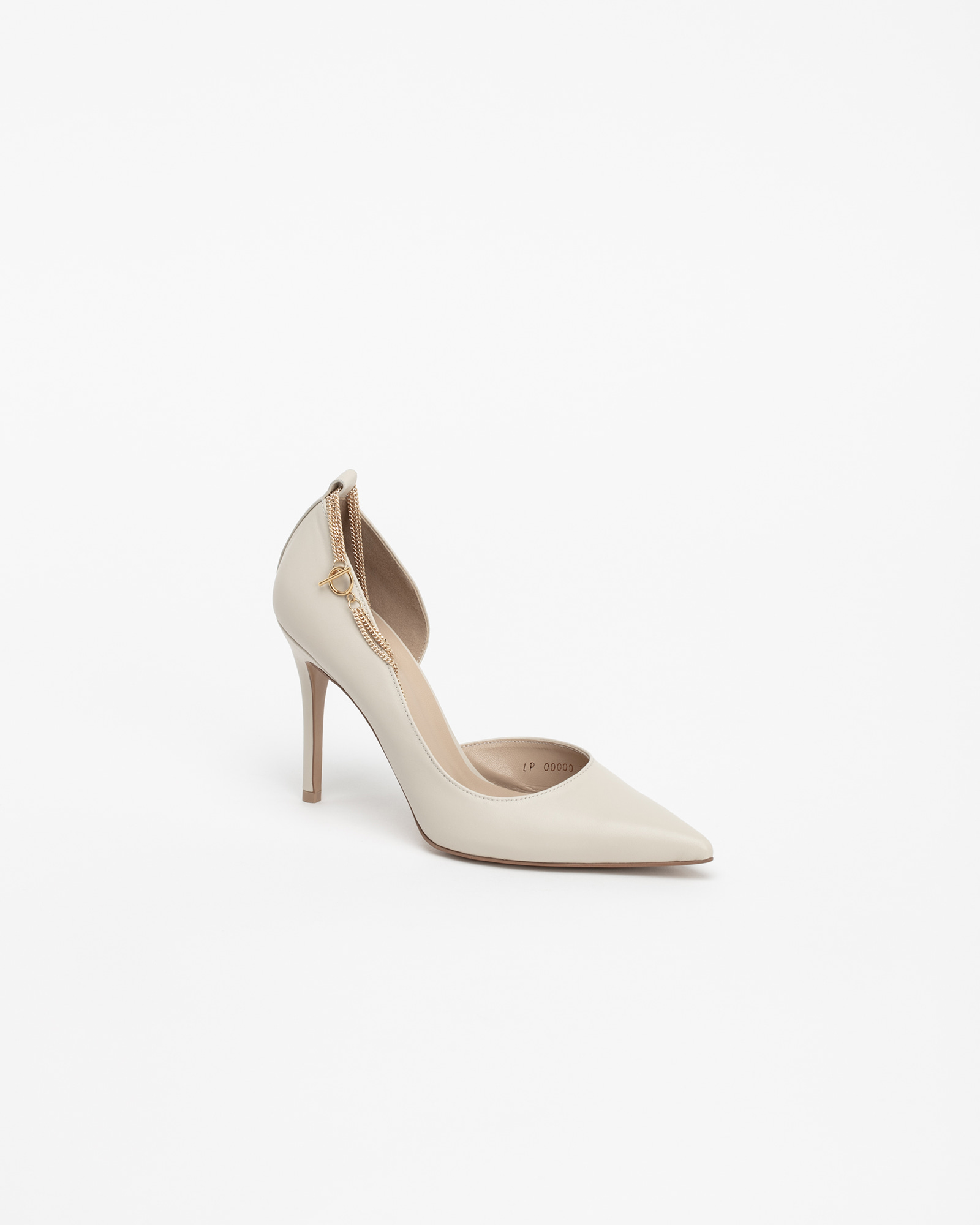 Cinque Chained Stiletto Pumps in Ivory