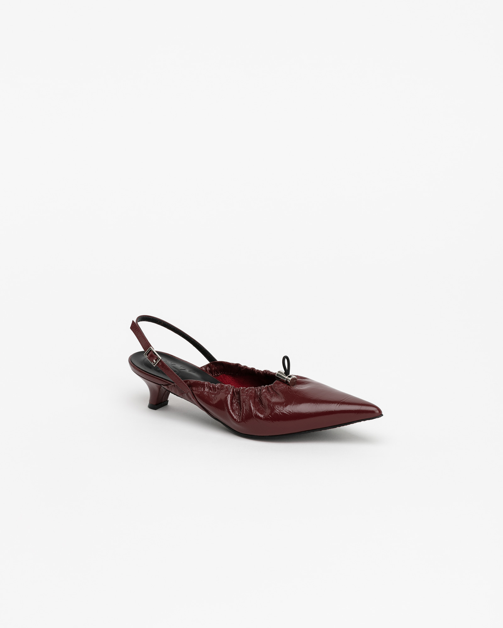 Cote Soft Slingbacks in Textured WIne