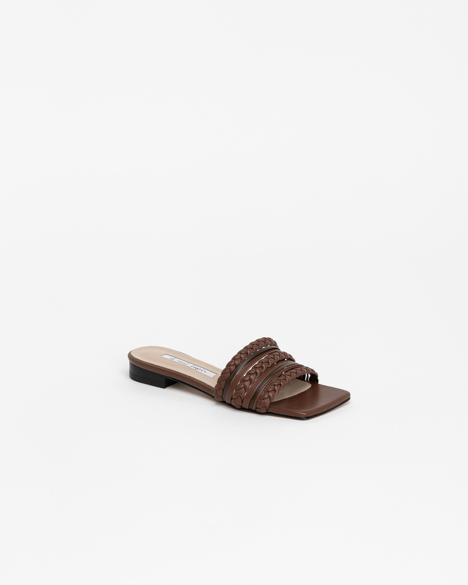 Knotter Woven Slides in Brown Combination