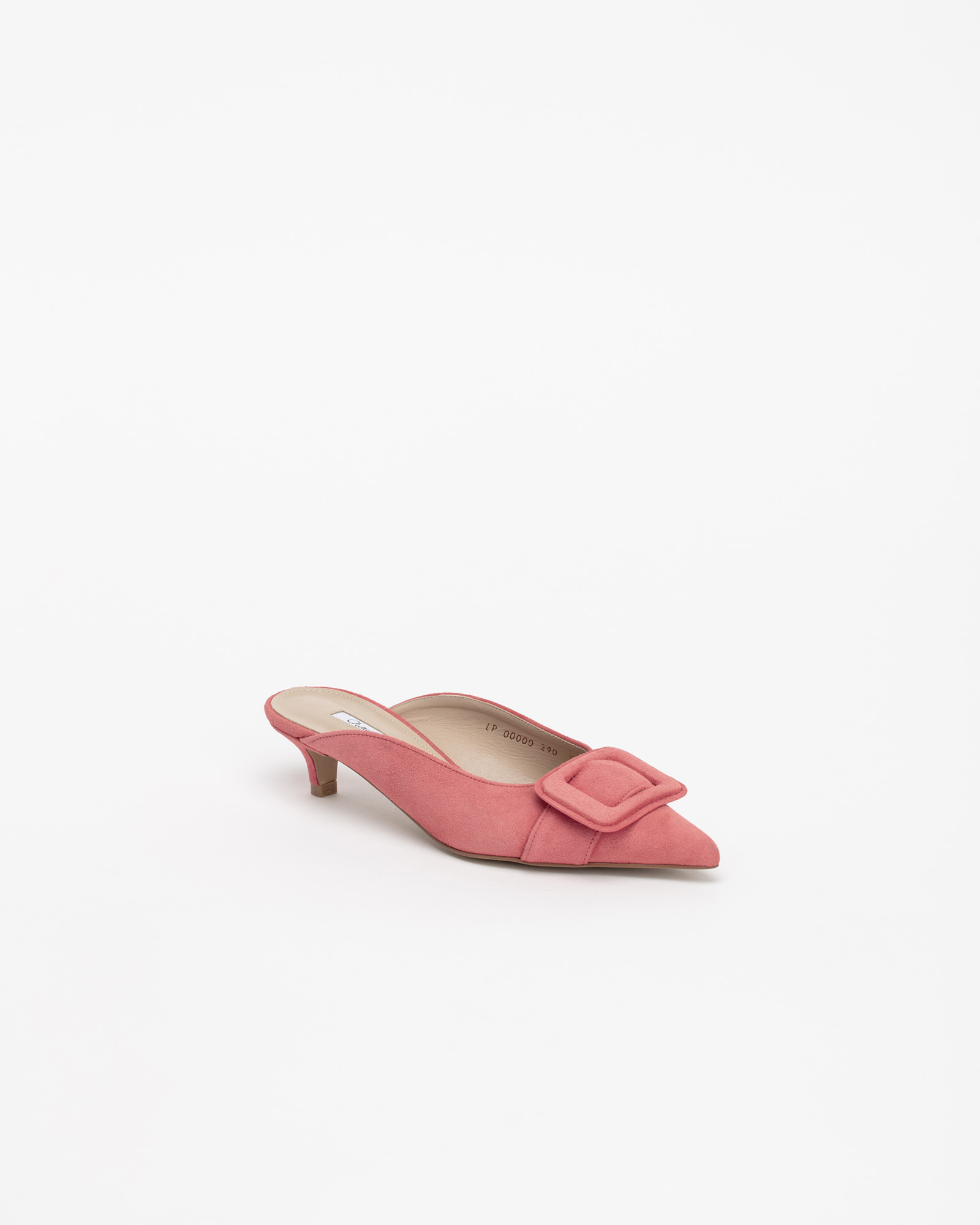 Shanon Mules in Coral Pink Suede