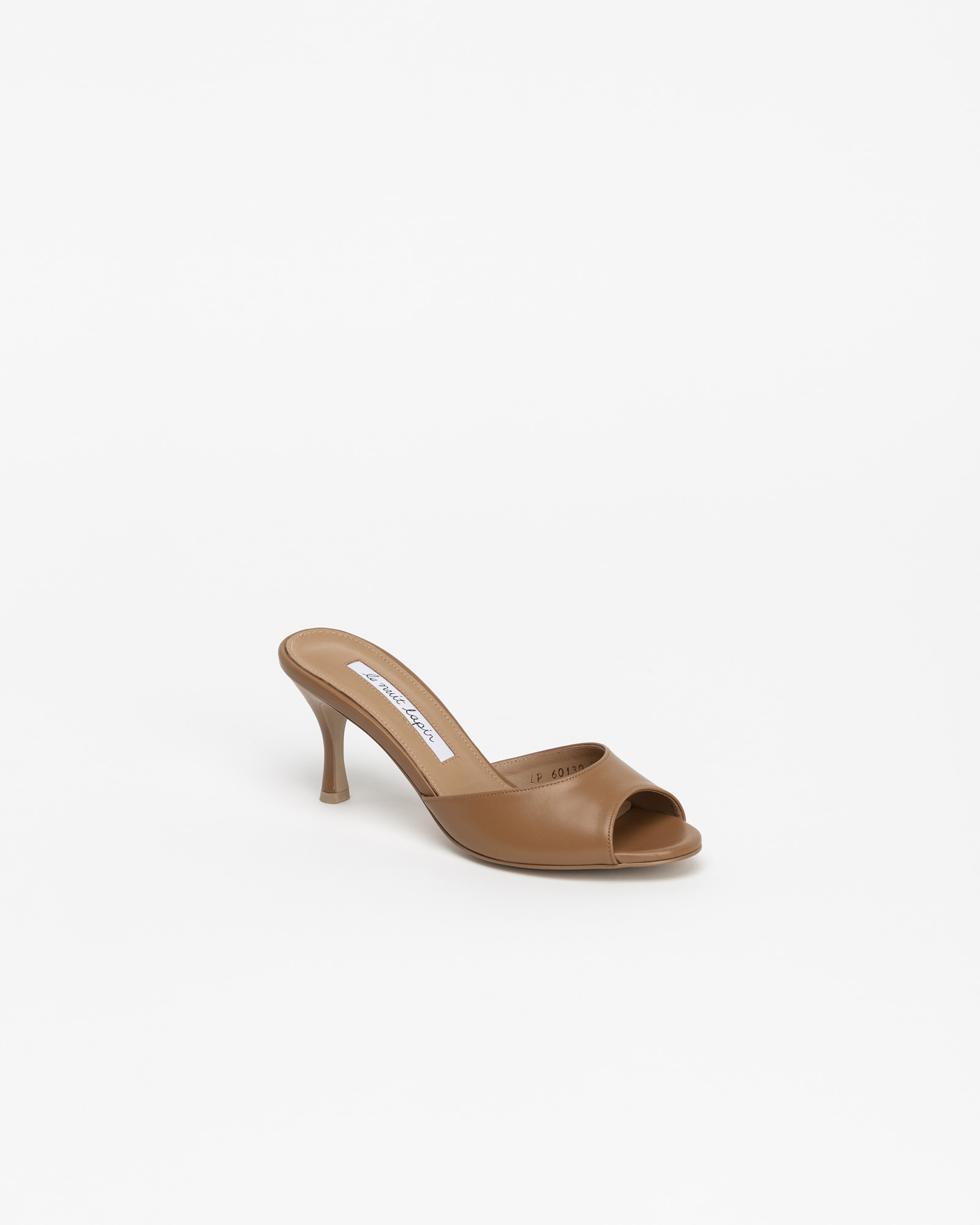Chartres Mules in Camel Baby Calf