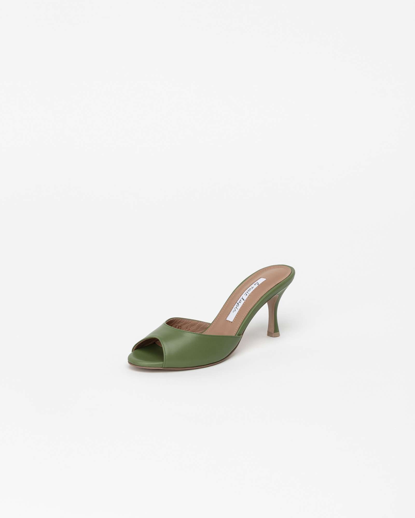 Chartres Mules in Green Baby Calf