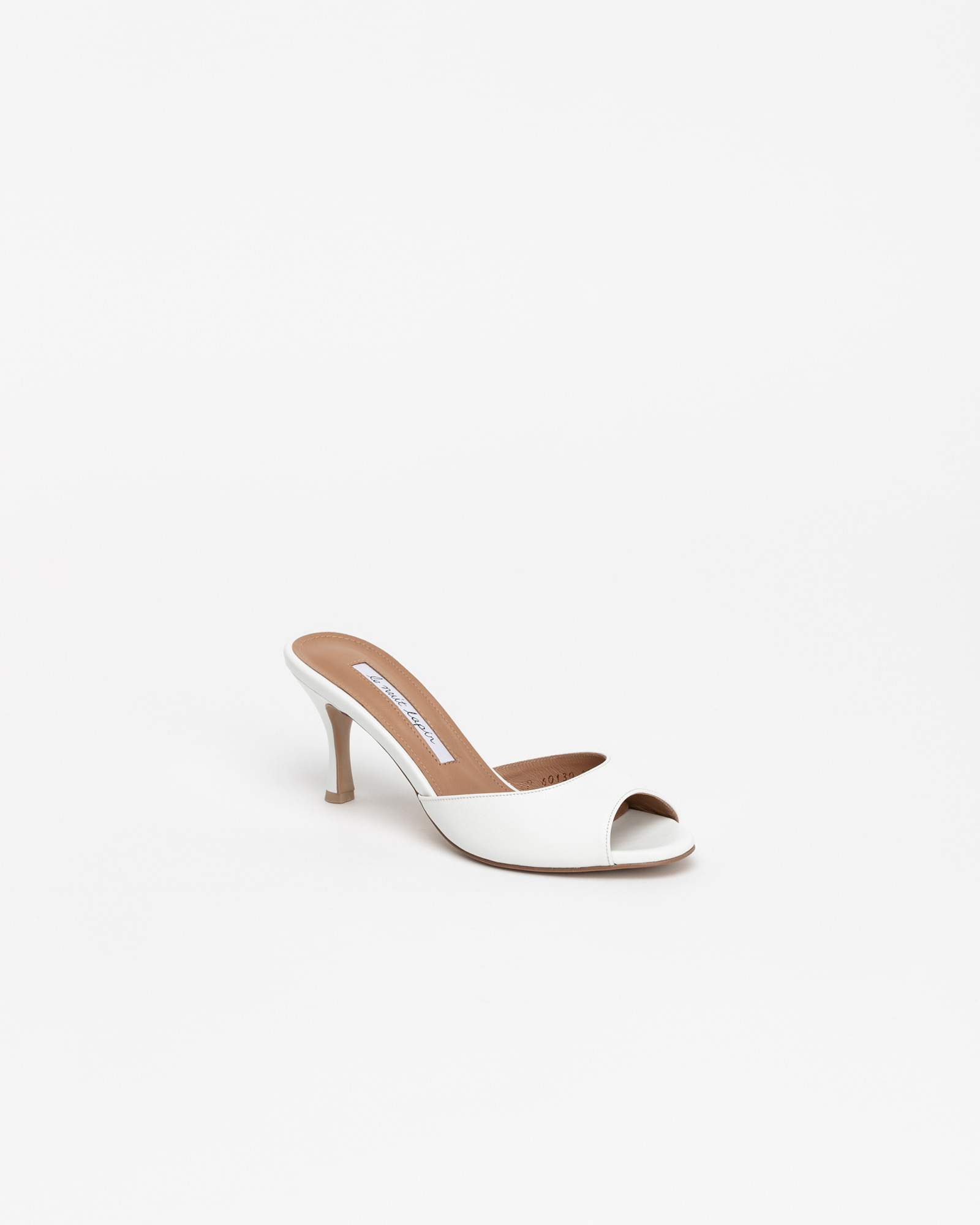 Chartres Mules in White