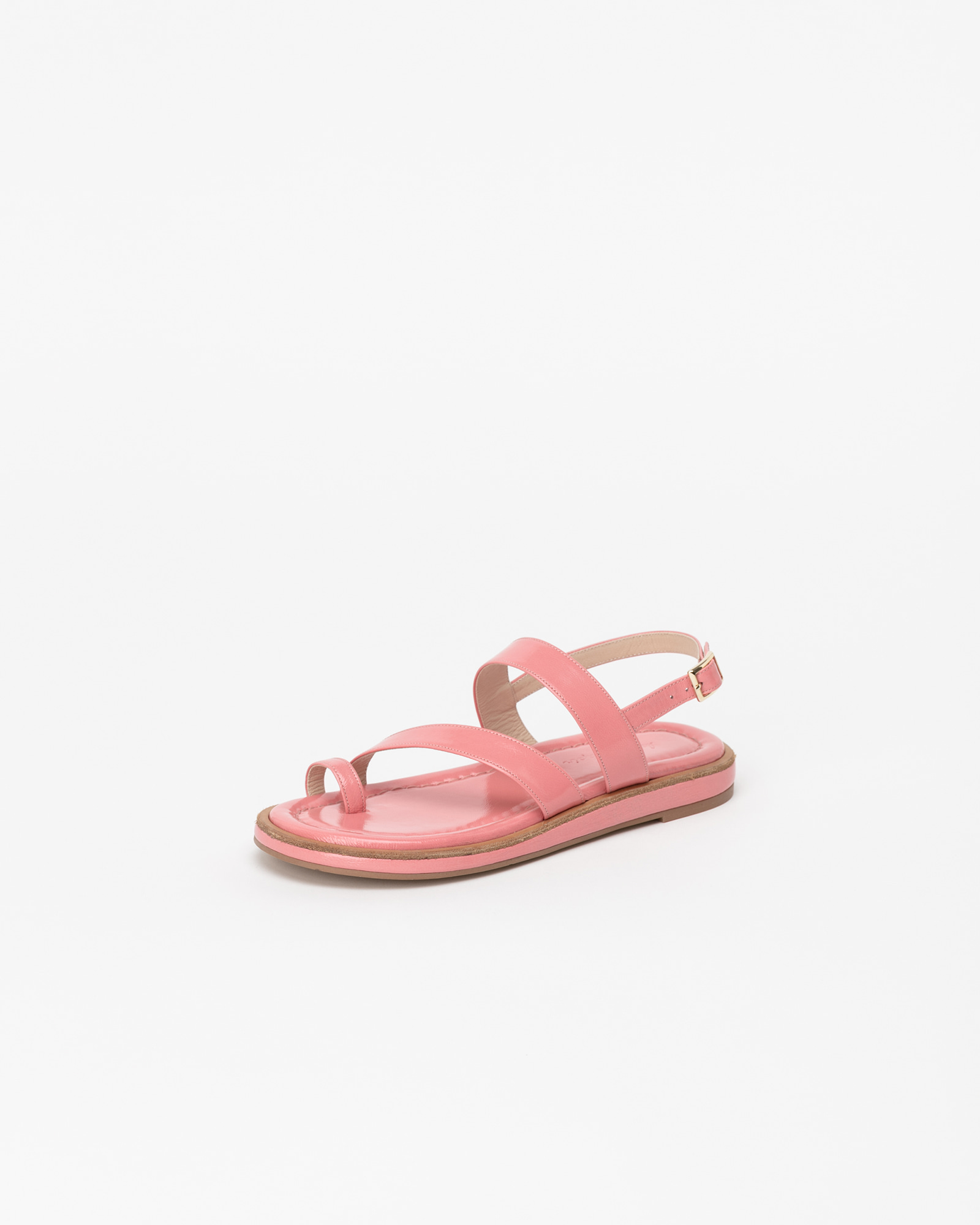 Cerise Thong Sandals in Coral Pink