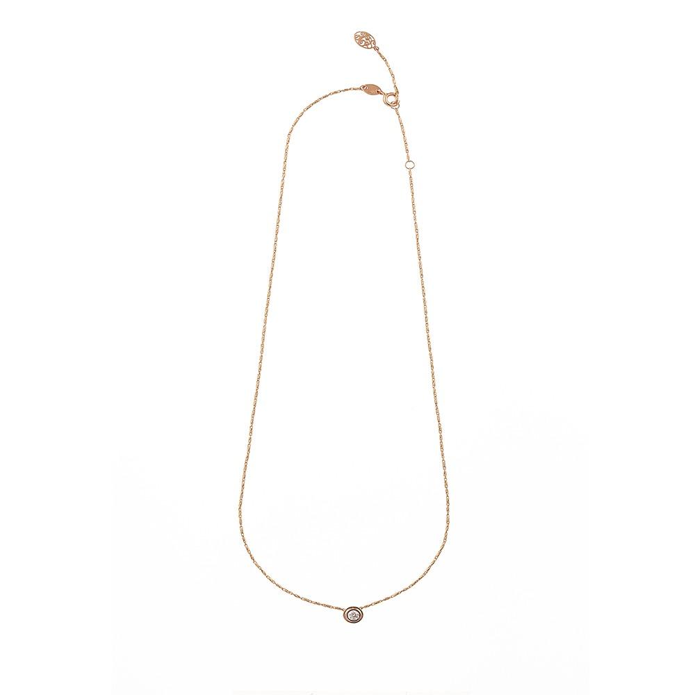 [diamante] Dia1_YellowPink_Necklace_42cm