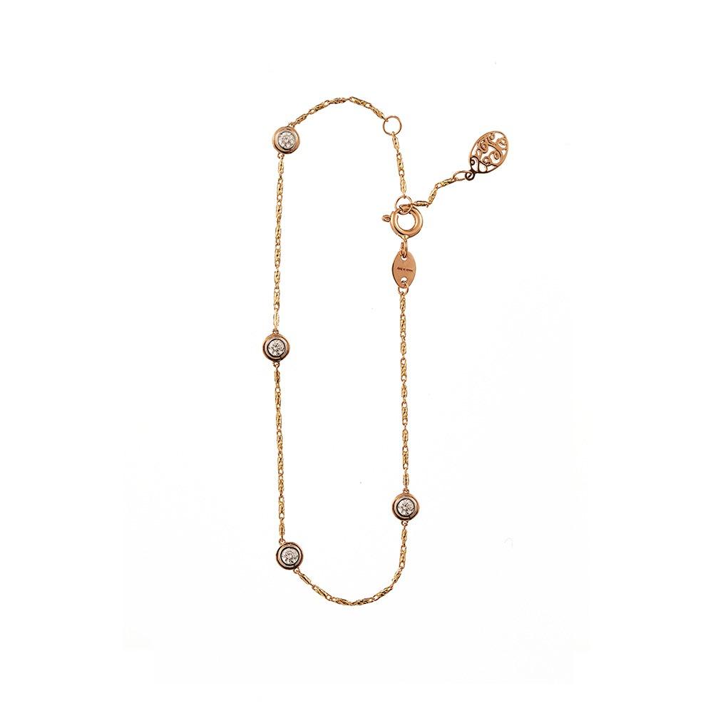 [diamante] Dia4_YellowPink_Bracelet_17.5cm